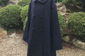 大人用コートを子供服サイズにリメイク