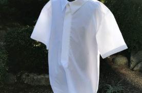 お父さんのYシャツを子供服サイズにリメイク