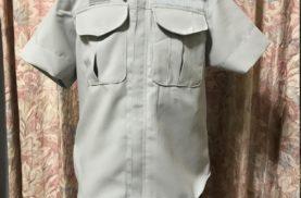 お父さんの作業着を子供サイズにリメイク