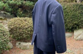 大人スーツを子供スーツにリメイク
