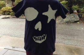 大人Tシャツをお子様サイズにリメイク